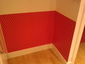 After shot oil cloth behind bin wall upcycle home improvement make my home pretty a