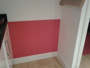 During shot oil cloth behind bin wall upcycle home improvement make my home pretty d
