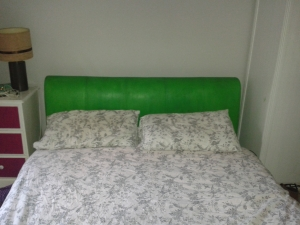 Green bed annie sloan chalk paint antibes green headboard