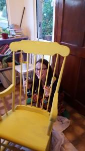 Rocking chair plus wine
