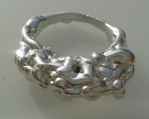 Sterling Silver lava ring a