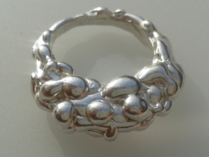 Sterling Silver lava ring b