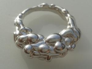 Sterling Silver lava ring b